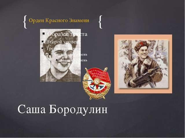 Орден Красного Знамени Саша Бородулин { {