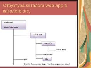 Структура каталога web-app в каталоге src.