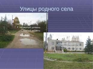 Улицы родного села