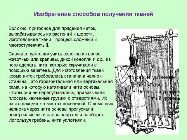 Изобретение способов получения тканей Волокно, пригодное для прядения ниток,...