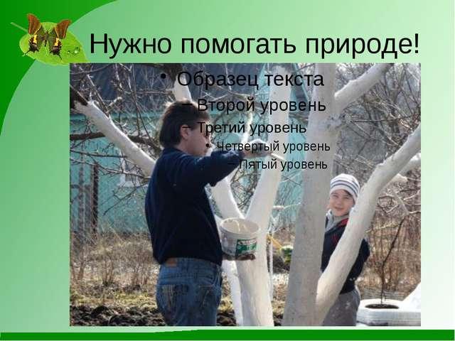 Нужно помогать природе!