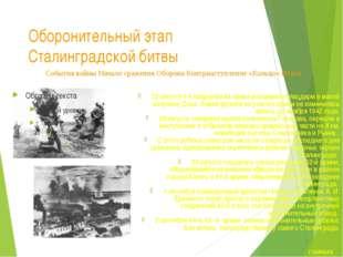 Завершение оборонительного этапа Сталинградской битвы Сталинград стал фронтов