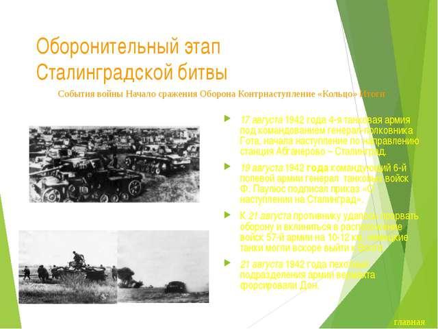 Завершение оборонительного этапа Сталинградской битвы Сталинград подвергался...