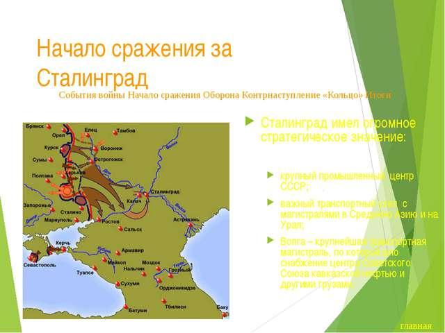 Начало сражения за Сталинград В середине июля 1942 года передовые части групп...