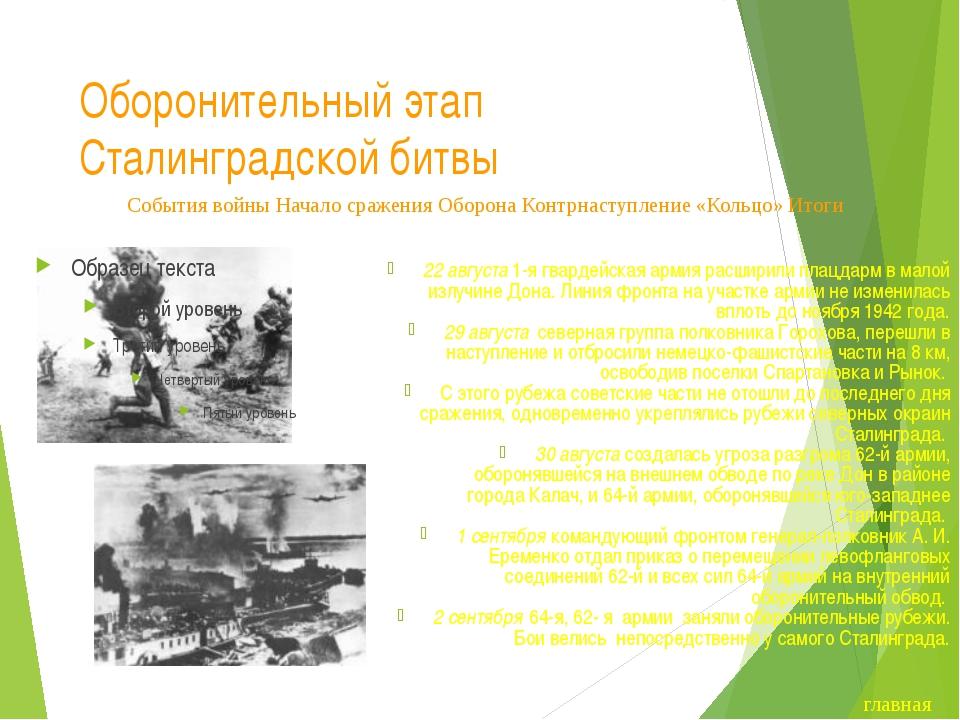 Завершение оборонительного этапа Сталинградской битвы Сталинград стал фронтов...