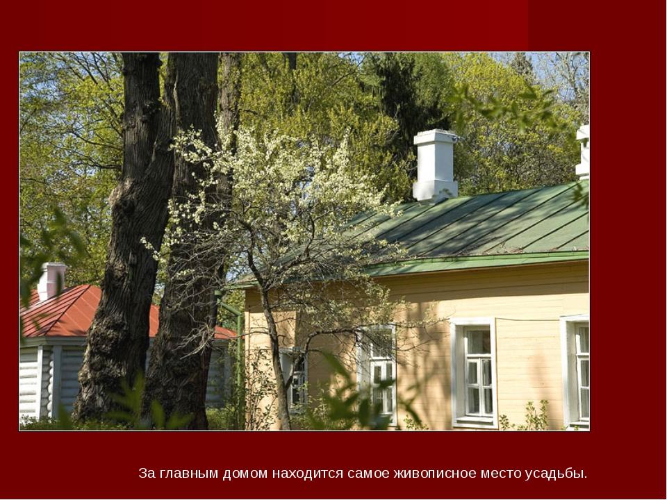 За главным домом находится самое живописное место усадьбы.