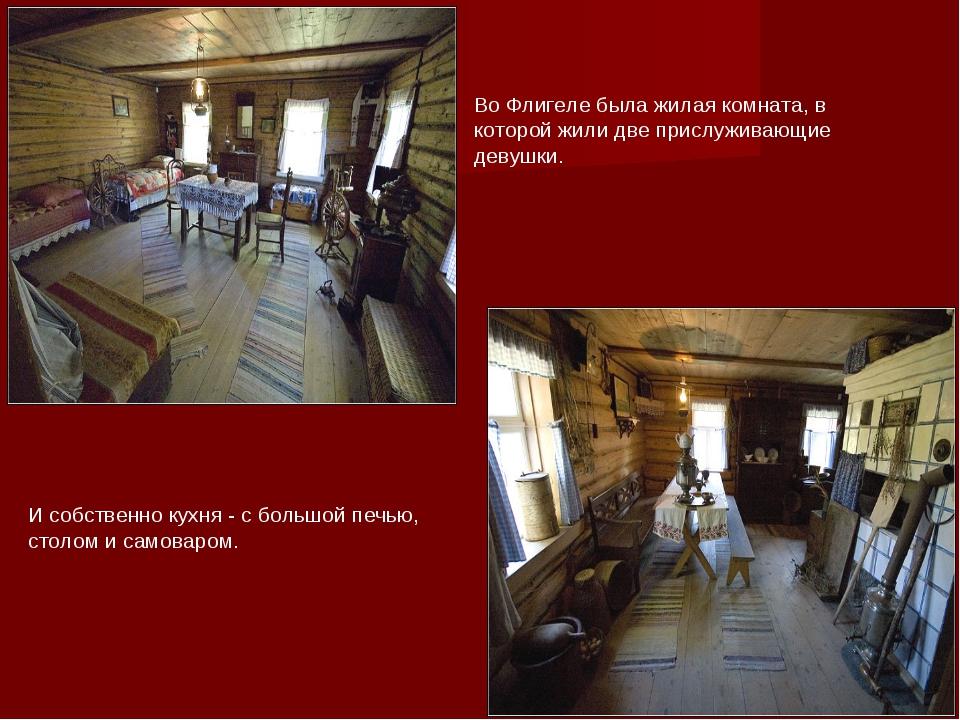 Во Флигеле была жилая комната, в которой жили две прислуживающие девушки. И с...