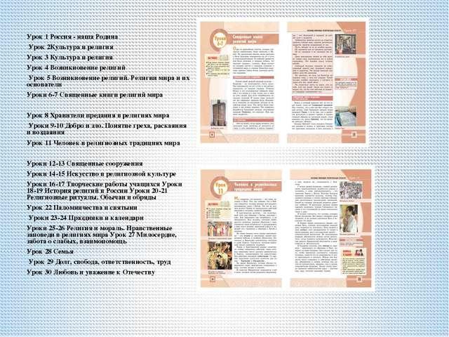 Урок 1 Россия - наша Родина Урок 2Культура и религия Урок 3 Культура и религ...