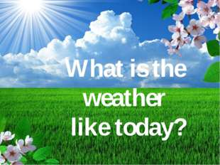 What's the weather like today? What is the weather like today?