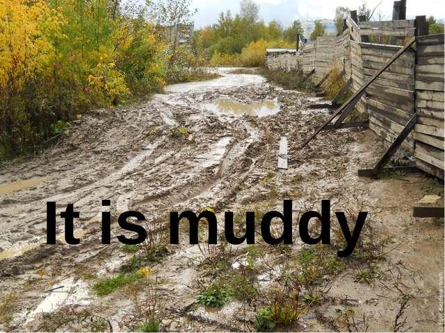 It is muddy