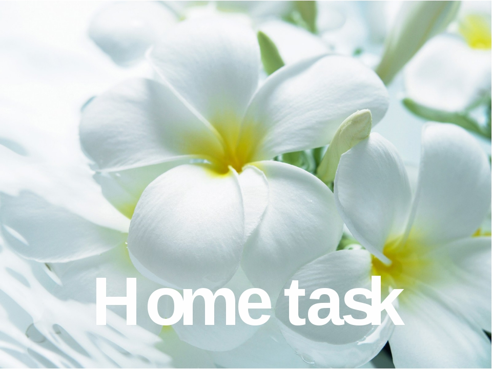 Home task