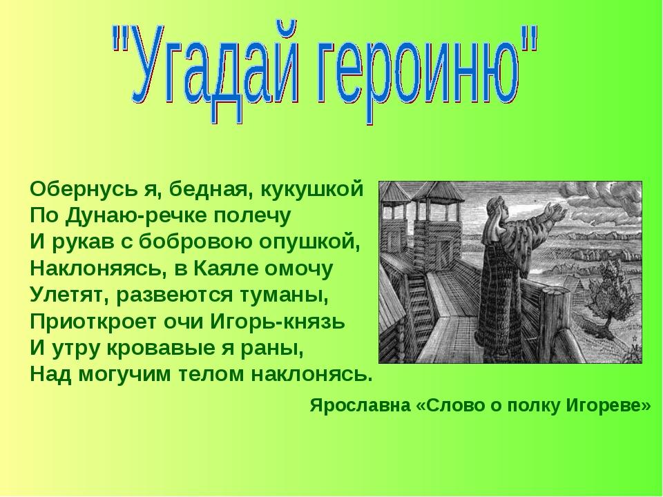 Обернусь я, бедная, кукушкой По Дунаю-речке полечу И рукав с бобровою опушкой...