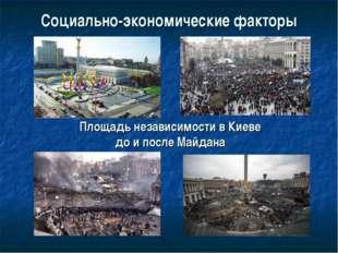 Социально-экономические факторы Площадь независимости в Киеве до и после Майд