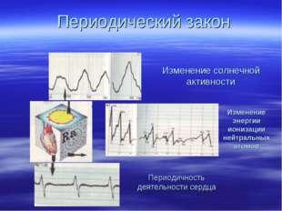 Изменение энергии ионизации нейтральных атомов Периодичность деятельности сер