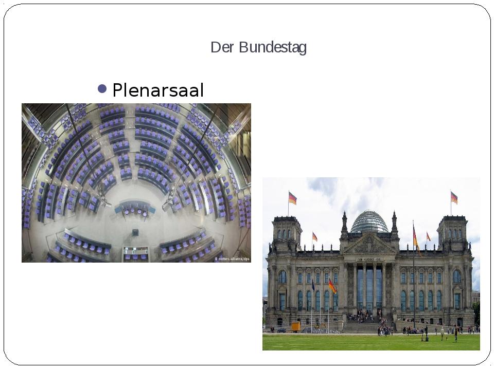 Der Bundestag Plenarsaal Bundestagsgebäude in Berlin