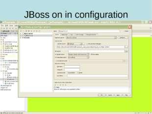 JBoss on in configuration