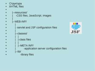 Структура XHTML files |--resources/ | -CSS files, JavaScript, images | |--WEB