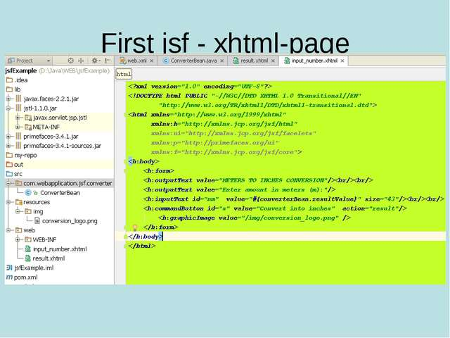 First jsf - xhtml-page