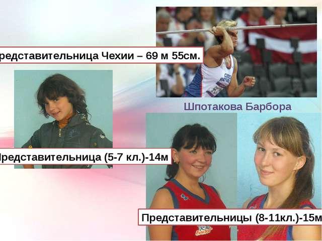 Шпотакова Барбора Представительница Чехии – 69 м 55см. Представительница (5-7...