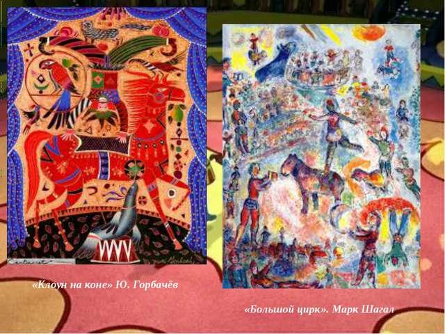 – А кто из вас был в цирке? «Клоун на коне» Ю. Горбачёв «Большой цирк». Марк...