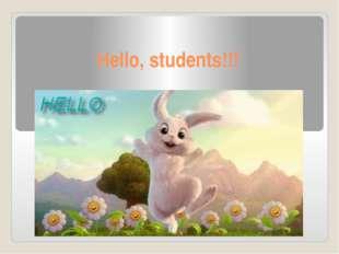 Hello, students!!!