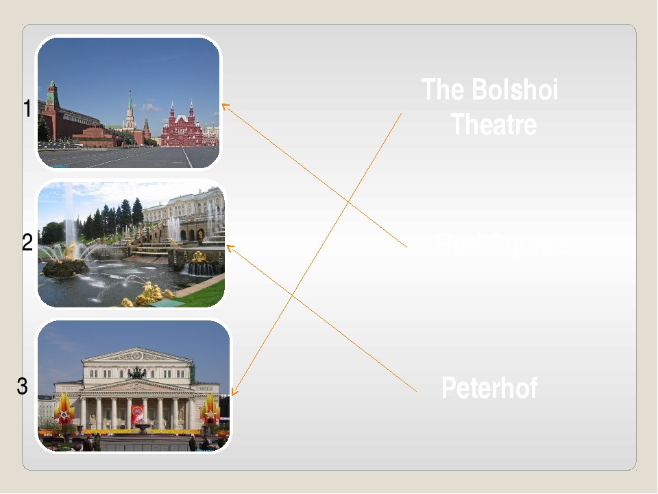 Red Square Peterhof The Bolshoi Theatre 1 2 3