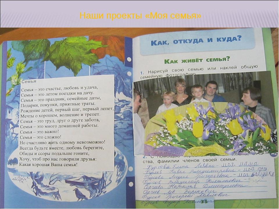 Наши проекты «Моя семья»