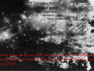 Ночная Тояма, Япония, 1 августа 1945 года после того, как 173 бомбардировщик