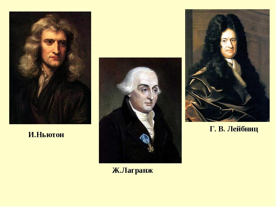 И.Ньютон Г. В. Лейбниц Ж.Лагранж