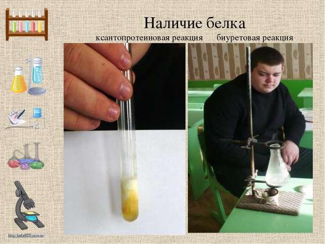 Наличие белка ксантопротеиновая реакция биуретовая реакция http://linda6035.u...