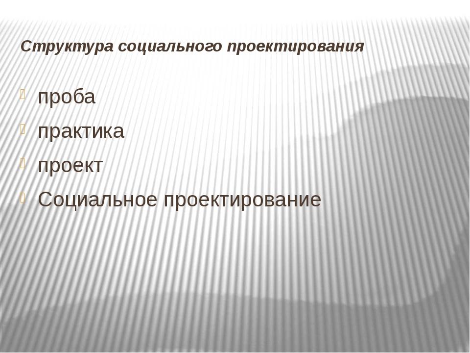 Структура социального проектирования проба практика проект Социальное проекти...