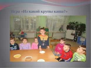 Игра «Из какой крупы каша?»