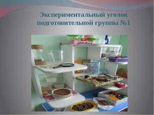 Экспериментальный уголок подготовительной группы №1