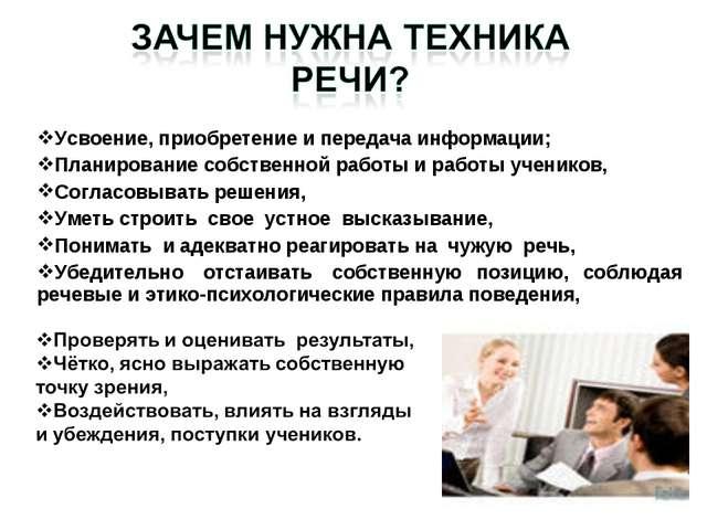 Усвоение, приобретение и передача информации; Планирование собственной работы...