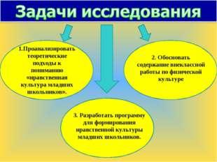 1.Проанализировать теоретические подходы к пониманию «нравственная культура м