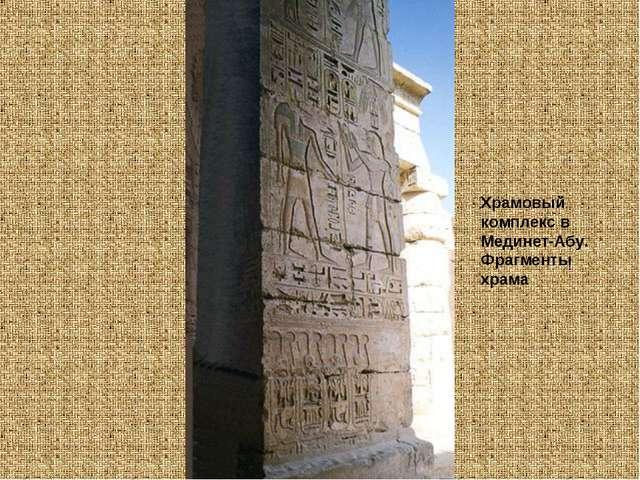 Храмовый комплекс в Мединет-Абу. Фрагменты храма