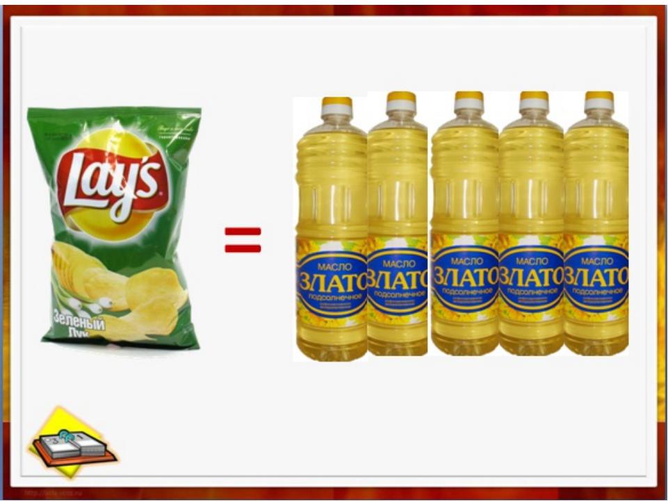 Съедая пачку чипсов, мы получаем: 0 граммов витаминов, минералов Половину дне...