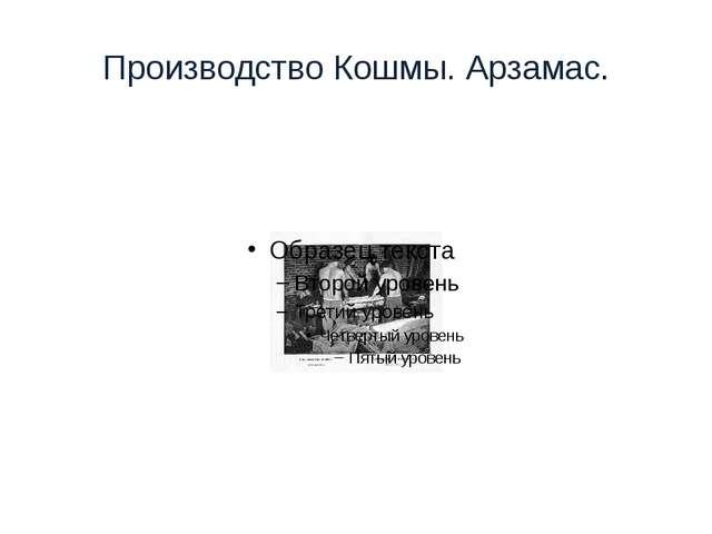 Производство Кошмы. Арзамас.