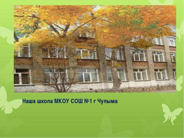 Наша школа МКОУ СОШ №1 г Чулыма