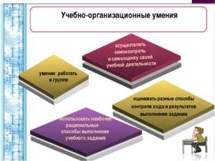 Учебно-организационные умения умение работать в группе оценивать разные спосо