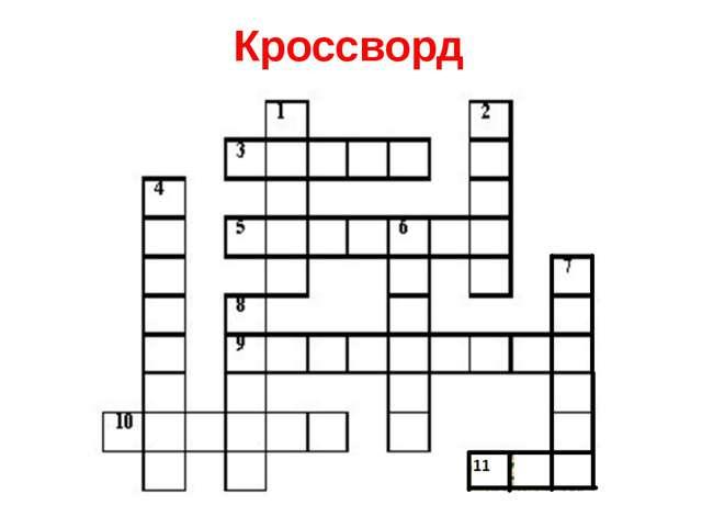 Кроссворды по русскому языку 5 класс