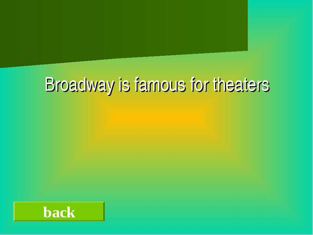 Broadway is famous for theaters back