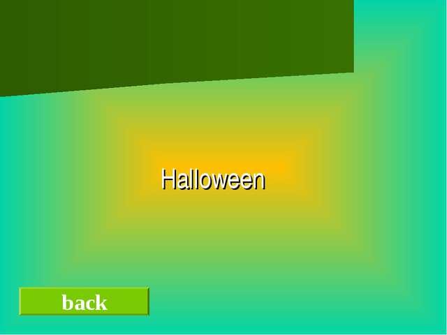 back Halloween
