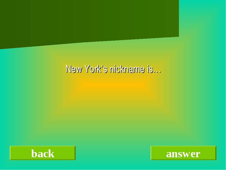 New York's nickname is… back answer