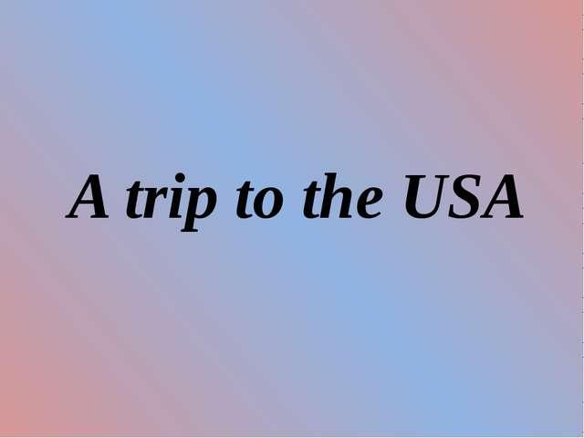 A trip to the USA