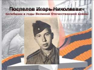 Поспелов Игорь Николаевич