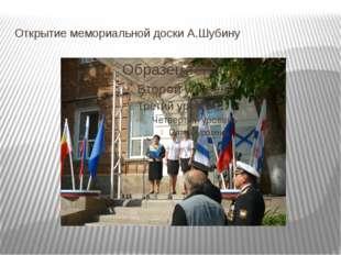 Открытие мемориальной доски А.Шубину