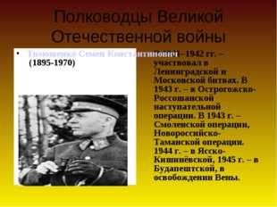 Полководцы Великой Отечественной войны В 1941–1942 гг. – участвовал в Ленинг