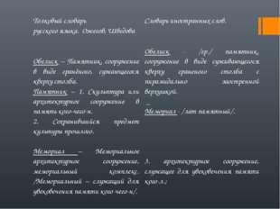Толковый словарь русского языка. Ожегов, ШведоваСловарь иностранных слов. Об