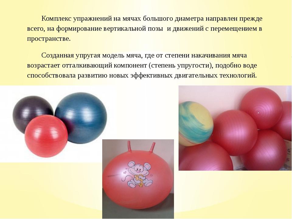 Комплекс упражнений на мячах большого диаметра направлен прежде всего, на фор...